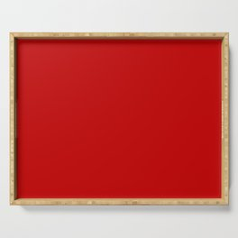 Cherry Red Solid Color Serving Tray