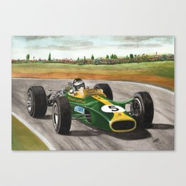 Jim Clark (natural born racer) Canvas Print