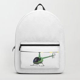 Light Green and Yellow Helicopter Backpack