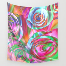 Drunk Roses Wall Tapestry