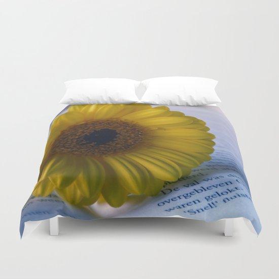 Yellow Gerbera Daisy Duvet Cover