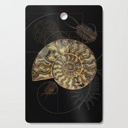 Ammonite Trilobite Fibonacci Spiral Cutting Board