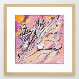 Pink Hour Pillows Framed Art Print