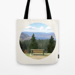 Lake Okanagan, Naramata, British Columbia - Low Poly Digital Art Tote Bag