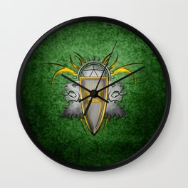 D20 Master of Dungeons and Dragons Green Wall Clock