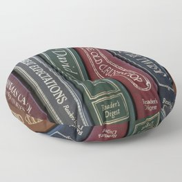 Dickens Books Floor Pillow