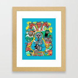 MF DOOM & Friends Framed Art Print