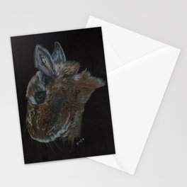 Peanut the netherland dwarf and rescue bunny Stationery Cards