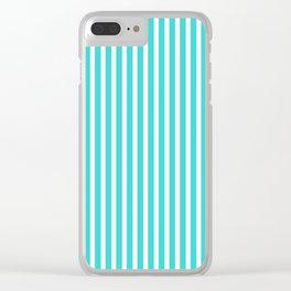 Stripe pattern seamless green aqua Clear iPhone Case