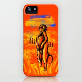Get on alert Meerkat iPhone Case