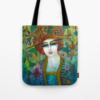 aquarius Tote Bags featuring AQUARIUS by ALBENA
