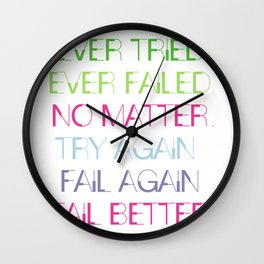 Try Again. Fail Again. Fail Better. - Minimal Wall Clock