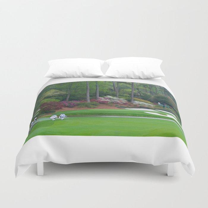 Golf's Amen Corner Augusta Georgia - Golfers on Bridge Bettbezug