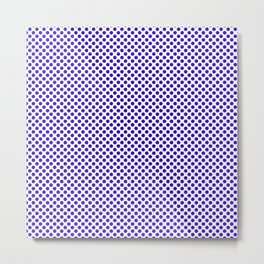 Blue Gem Polka Dots Metal Print