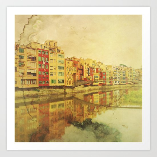 The river that reflects the city Art Print