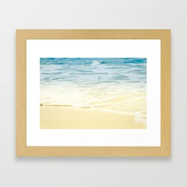 Kapalua Beach dream colours sparkling golden sand seafoam Maui Hawaii Framed Art Print