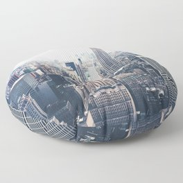 New York City and the Empire State Building Floor Pillow