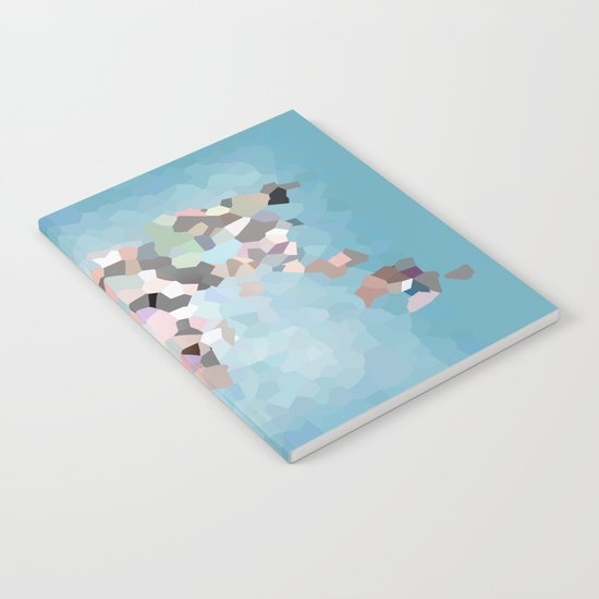 Travel Map Geometric Abstract of the World Notebook