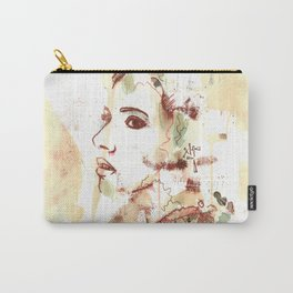 Mono Print Model Carry-All Pouch