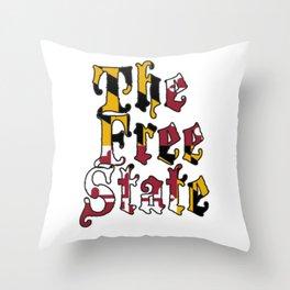 Free State white Throw Pillow