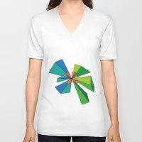 3d V-neck T-shirts featuring 3D by MeMRB
