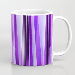 Luxurious Lilac, Purple and Silver Stripy Pattern Coffee Mug