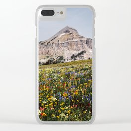 Fossil Mountain Wildflowers Clear iPhone Case