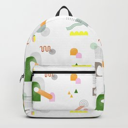"""Geometric desing pattern """" Windy day""""  Backpack"""