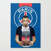 zlatan Canvas Prints featuring Football Stars: Zlatan Ibrahimovic by Akyanyme