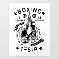 boxing Art Prints featuring Boxing by T-SIR | Oscar Postigo