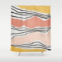 Modern irregular Stripes 01 Shower Curtain