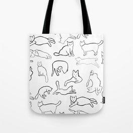 Monochrome cats Tote Bag