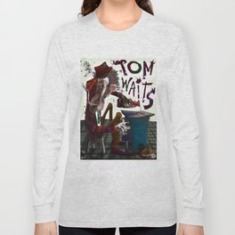 Tom Waits Long Sleeve T-shirt