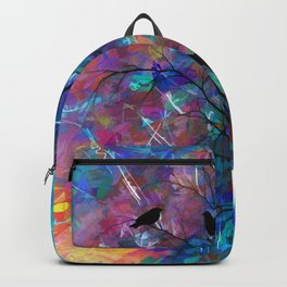Love Birds Abstract #society6 #decor #lovebirds by Lena Owens @OLena Art Backpack