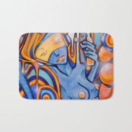 Blue-Orange Bath Mat