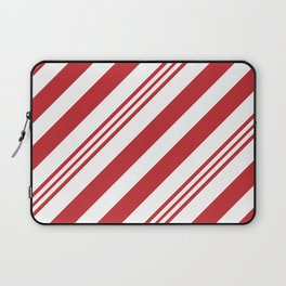 Red Candy Cane Stripes Laptop Sleeve