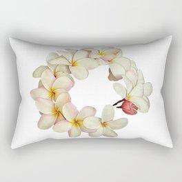 Plumeria Tropical Flower Garland Rectangular Pillow