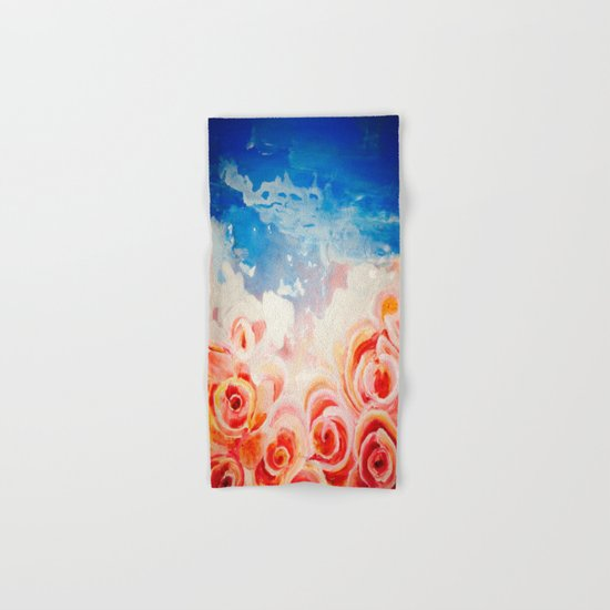Peachy Roses Hand & Bath Towel