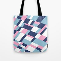 matisse Tote Bags featuring Matisse Map Pink by Project M