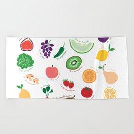 ABC Fruit and Vege Beach Towel