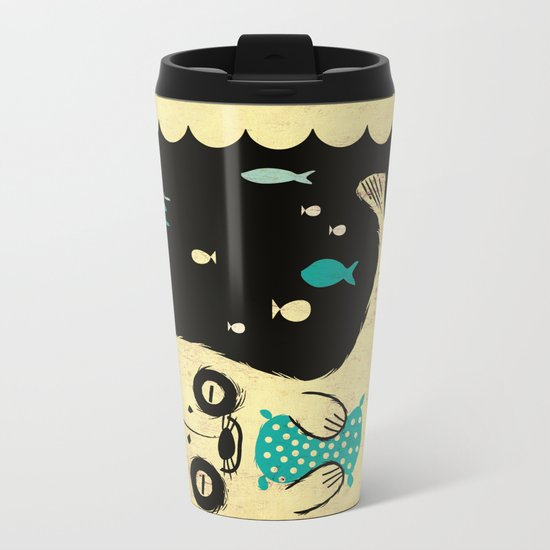 Panda Seal Metal Travel Mug