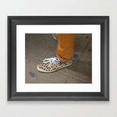 Leopard Shoe Framed Art Print