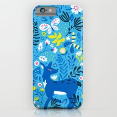 Deer and Butterflies (Sky Blue) Slim Case iPhone 6s