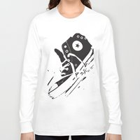 converse Long Sleeve T-shirts featuring CONVERSE by PixelRiff