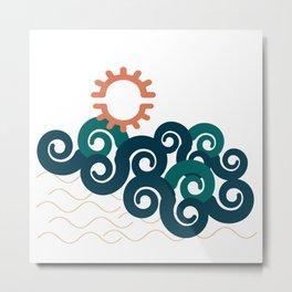 sun in a beach Metal Print