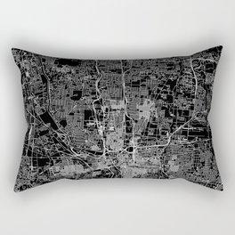 Columbus Black Map Rectangular Pillow