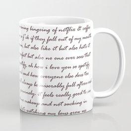 Hummus, Tats & Farts....A Real Poem by a Real Girl Coffee Mug