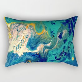 blue and gold Rectangular Pillow