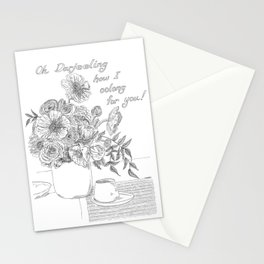 Oh Darjeeling How I Oolong for You! Stationery Cards