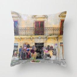 Erice art 1 Throw Pillow